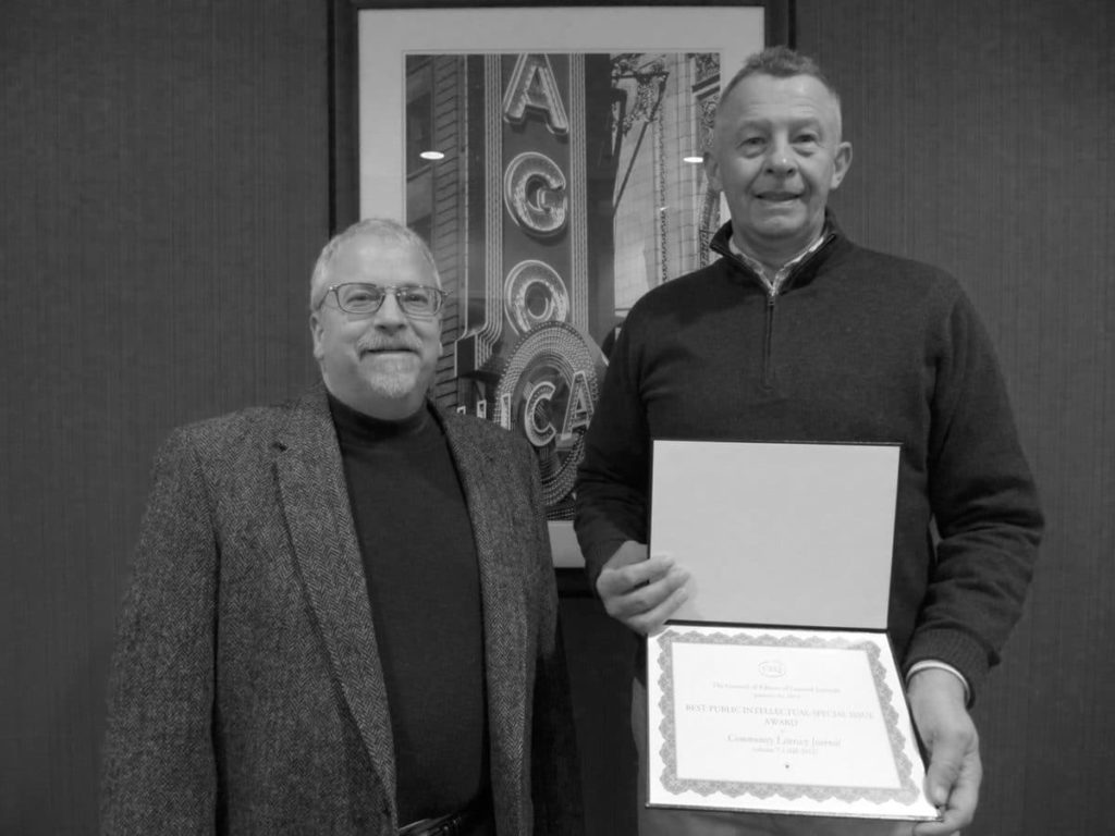WRD Department Chair, Peter Vandenberg and CLJ Editor, Michael Moore